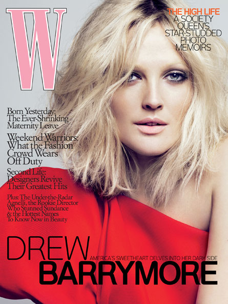 Drew Barrymore - Capa da W Magazine (april 2009)